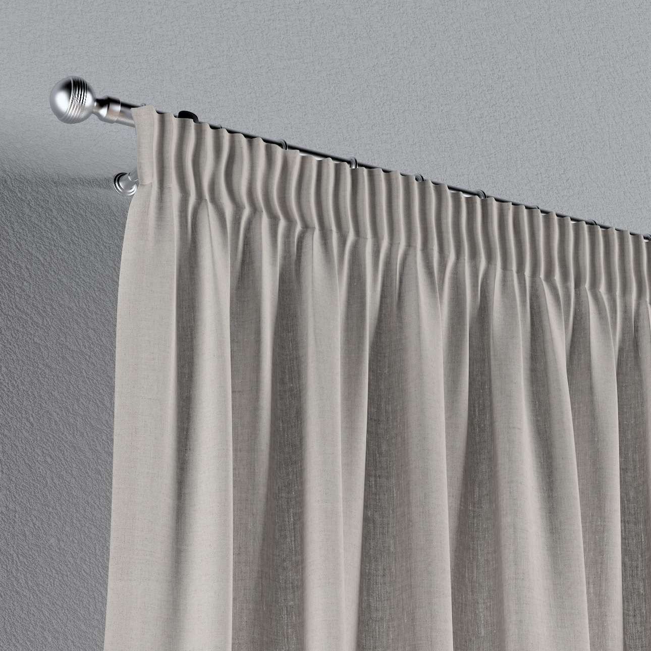 Záves na riasiacej páske V kolekcii Linen, tkanina: 159-07
