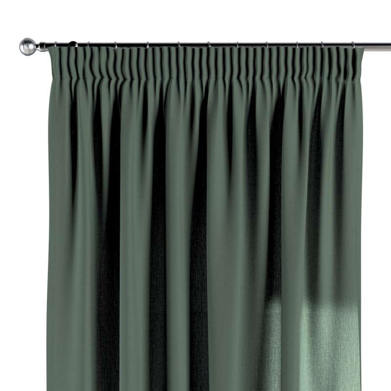 Pencil pleat curtain in collection Linen, fabric: 159-08
