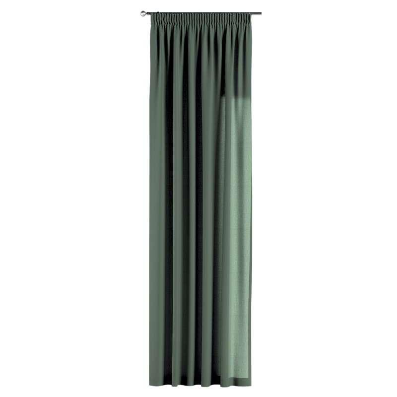 Záves na riasiacej páske V kolekcii Linen, tkanina: 159-08