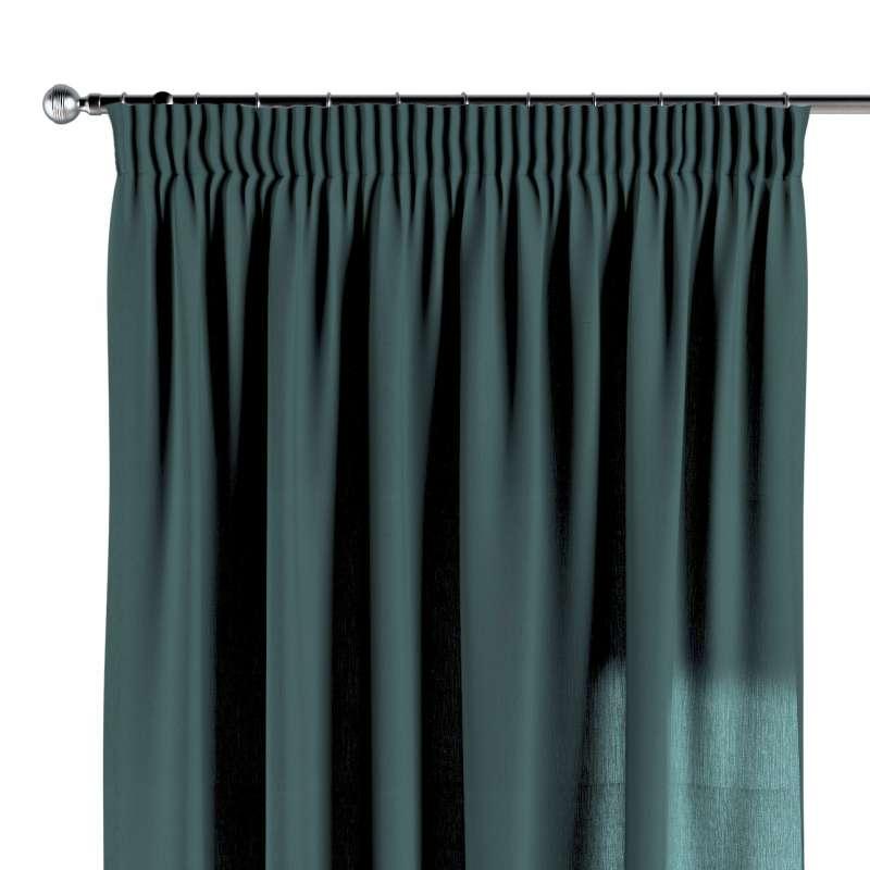 Függöny ráncolóval a kollekcióból Leinen Lakástextil, Dekoranyag: 159-09