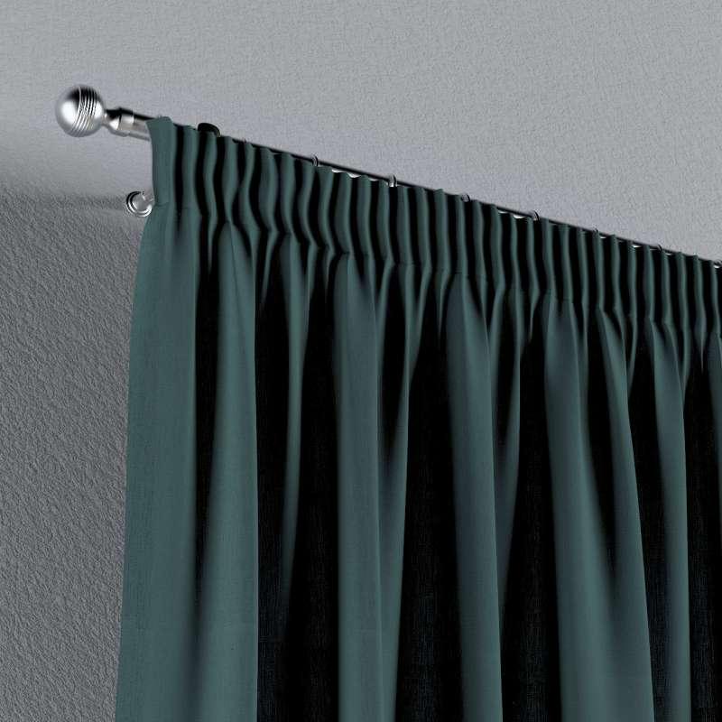 Vorhang mit Kräuselband von der Kollektion Leinen, Stoff: 159-09
