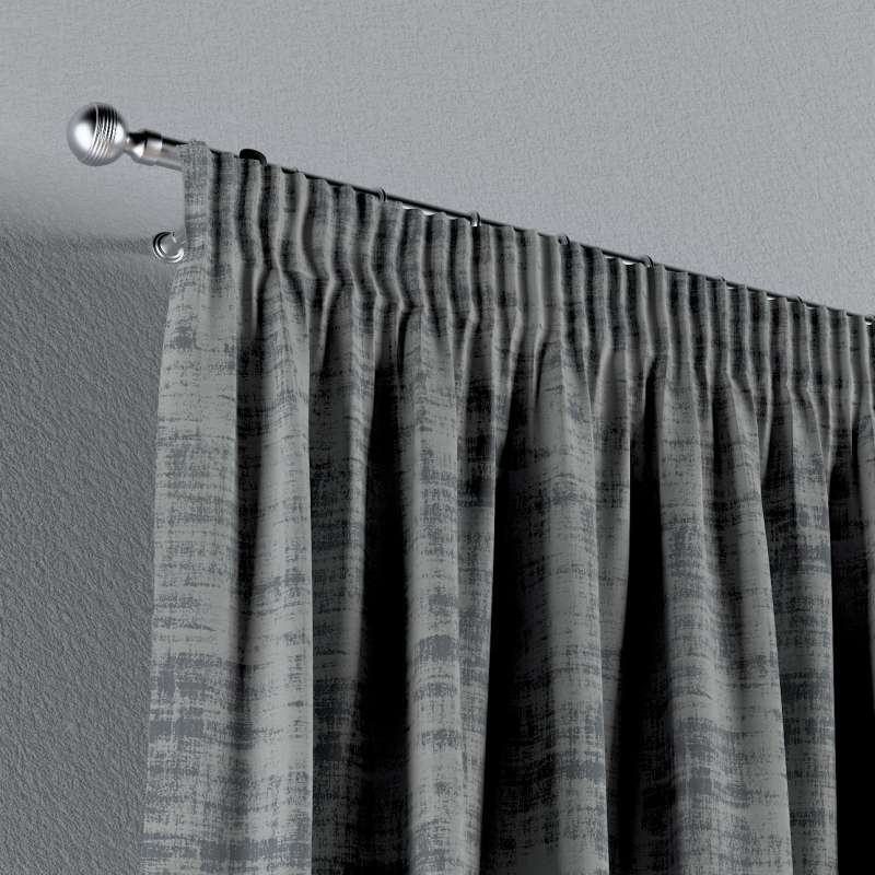 Pencil pleat curtain in collection Velvet, fabric: 704-32