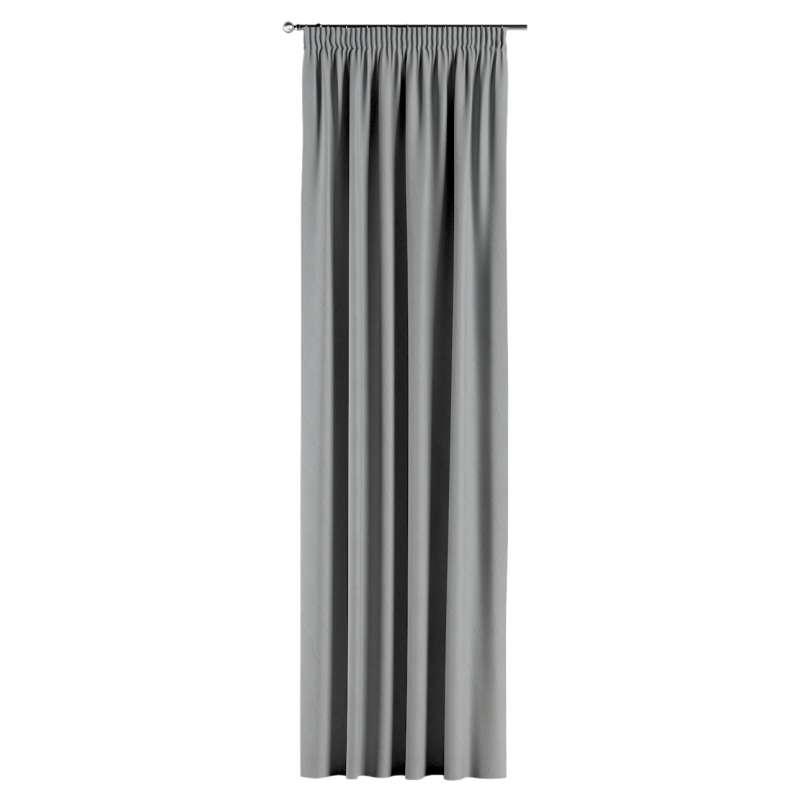 Gardin med rynkband 1 längd i kollektionen Blackout (mörkläggande), Tyg: 269-19