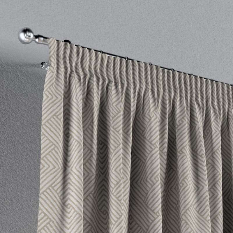 Pencil pleat curtain in collection Sunny, fabric: 143-44