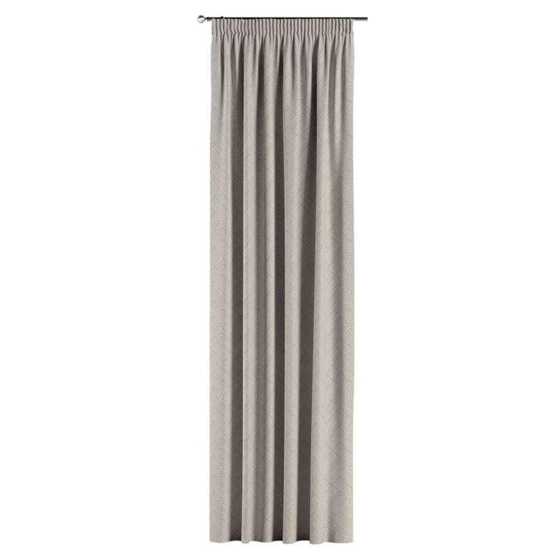 Gardin med rynkband 1 längd i kollektionen Sunny, Tyg: 143-44