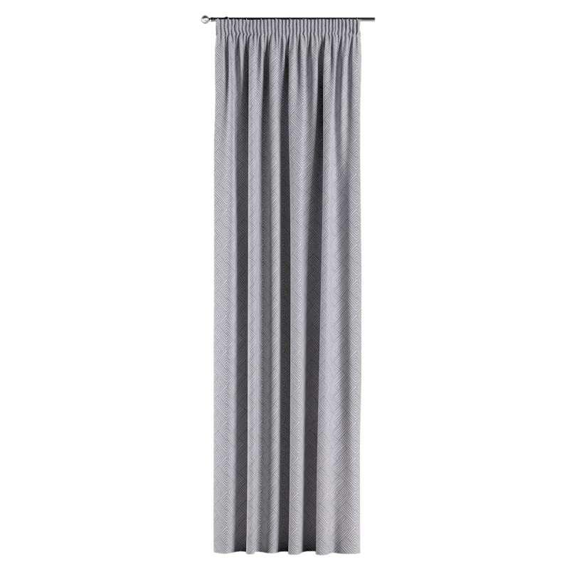 Gardin med rynkband 1 längd i kollektionen Sunny, Tyg: 143-45