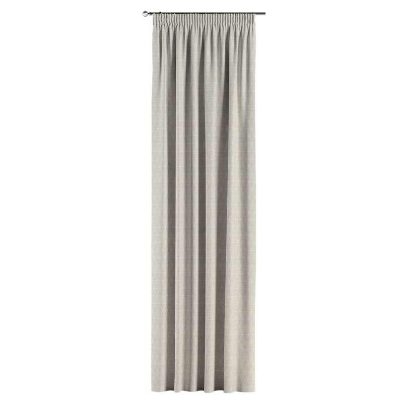 Gardin med rynkband 1 längd i kollektionen Sunny, Tyg: 143-49