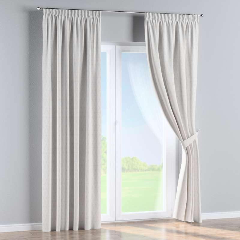 Pencil pleat curtain in collection Sunny, fabric: 143-94