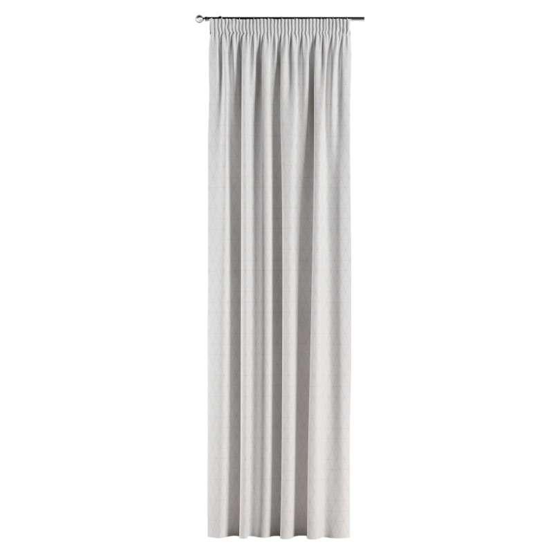 Gardin med rynkband 1 längd i kollektionen Sunny, Tyg: 143-94