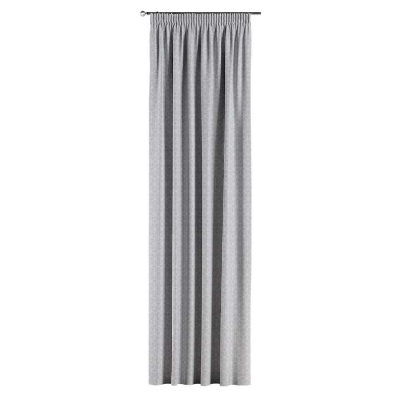 Gardin med rynkband 1 längd i kollektionen Sunny, Tyg: 143-50
