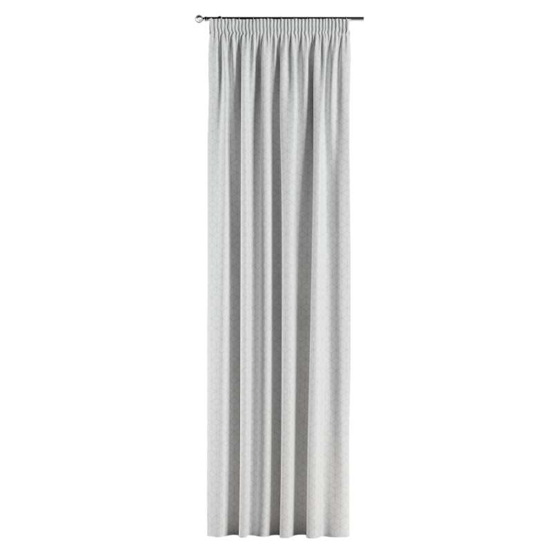 Gardin med rynkband 1 längd i kollektionen Sunny, Tyg: 143-51