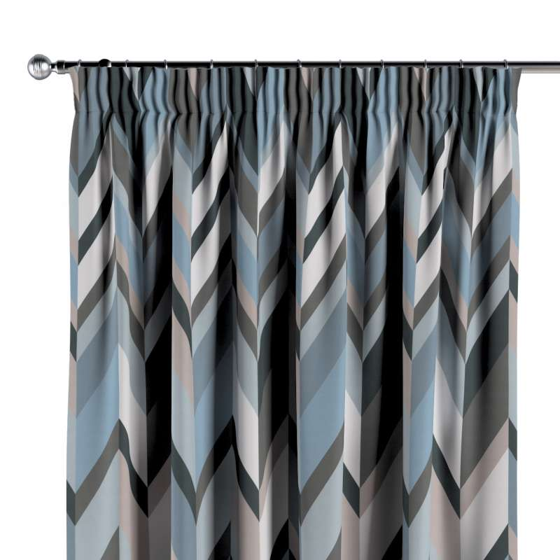 Pencil pleat curtain in collection Vintage 70's, fabric: 143-54