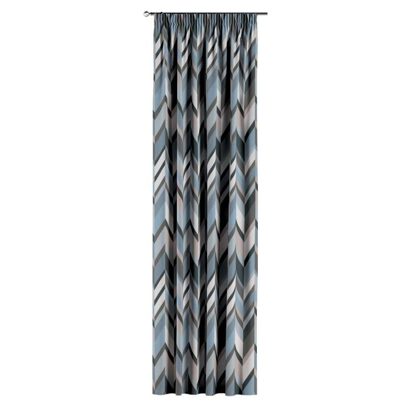 Gardin med rynkband 1 längd i kollektionen Vintage 70's, Tyg: 143-54