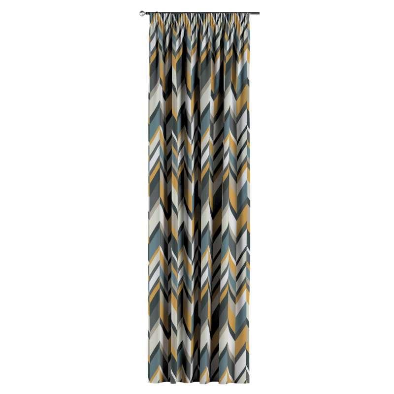 Gardin med rynkband 1 längd i kollektionen Vintage 70's, Tyg: 143-56