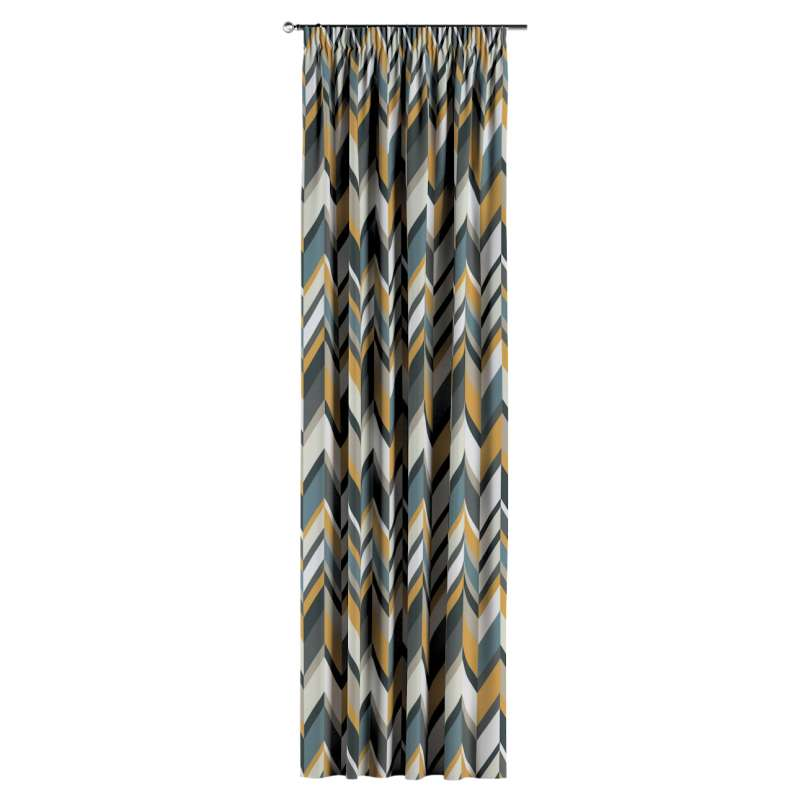 Pencil pleat curtain in collection Vintage 70's, fabric: 143-56