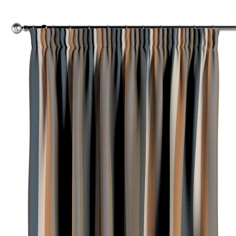 Gardin med rynkband 1 längd i kollektionen Vintage 70's, Tyg: 143-58