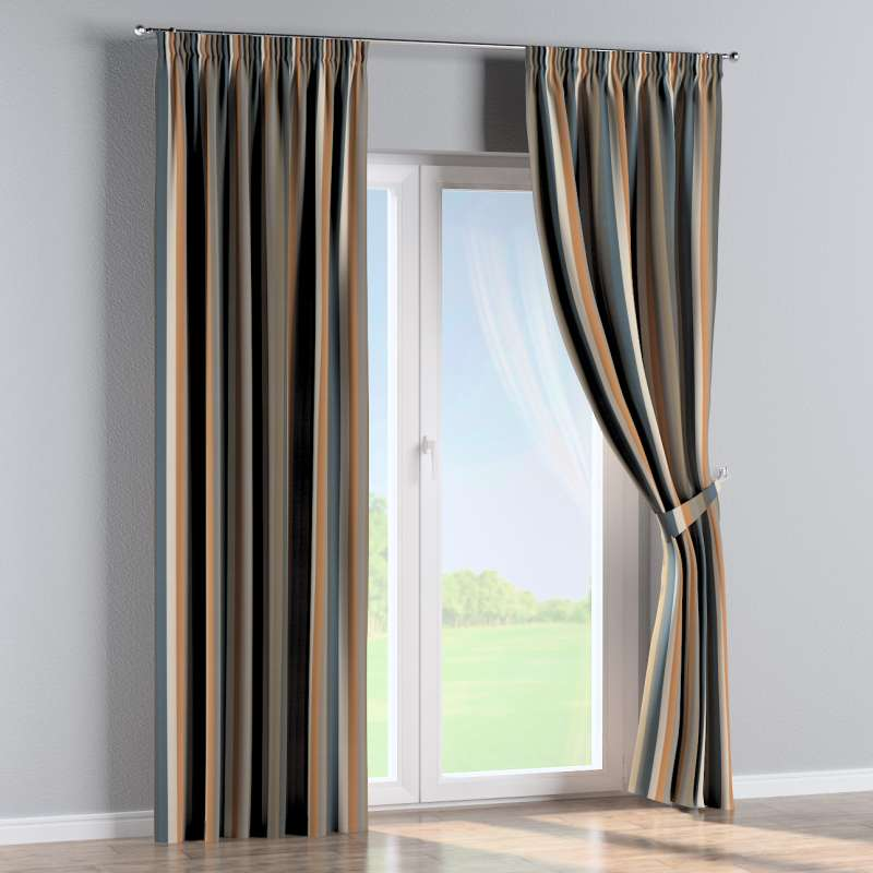 Pencil pleat curtain in collection Vintage 70's, fabric: 143-58