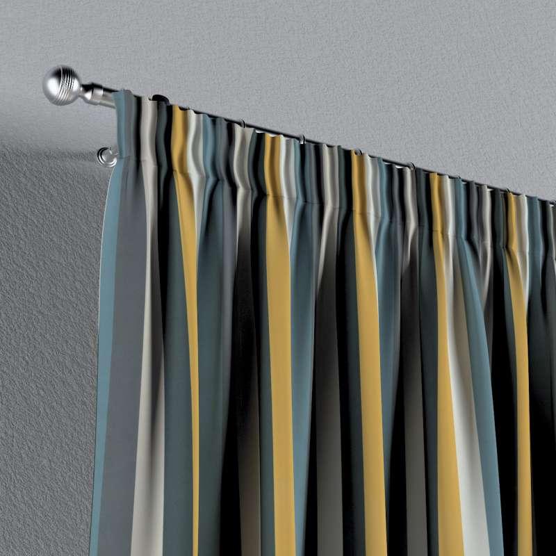 Vorhang mit Kräuselband von der Kollektion Vintage 70's, Stoff: 143-59