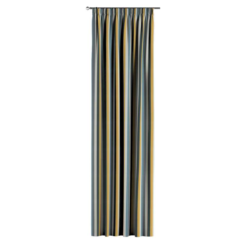 Pencil pleat curtain in collection Vintage 70's, fabric: 143-59