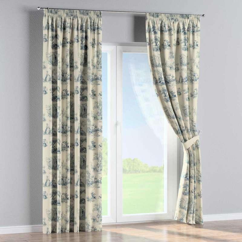Pencil pleat curtain in collection Avinon, fabric: 132-66