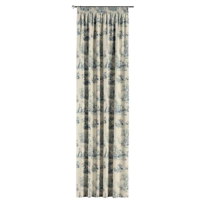 Vorhang mit Kräuselband von der Kollektion Avinon, Stoff: 132-66