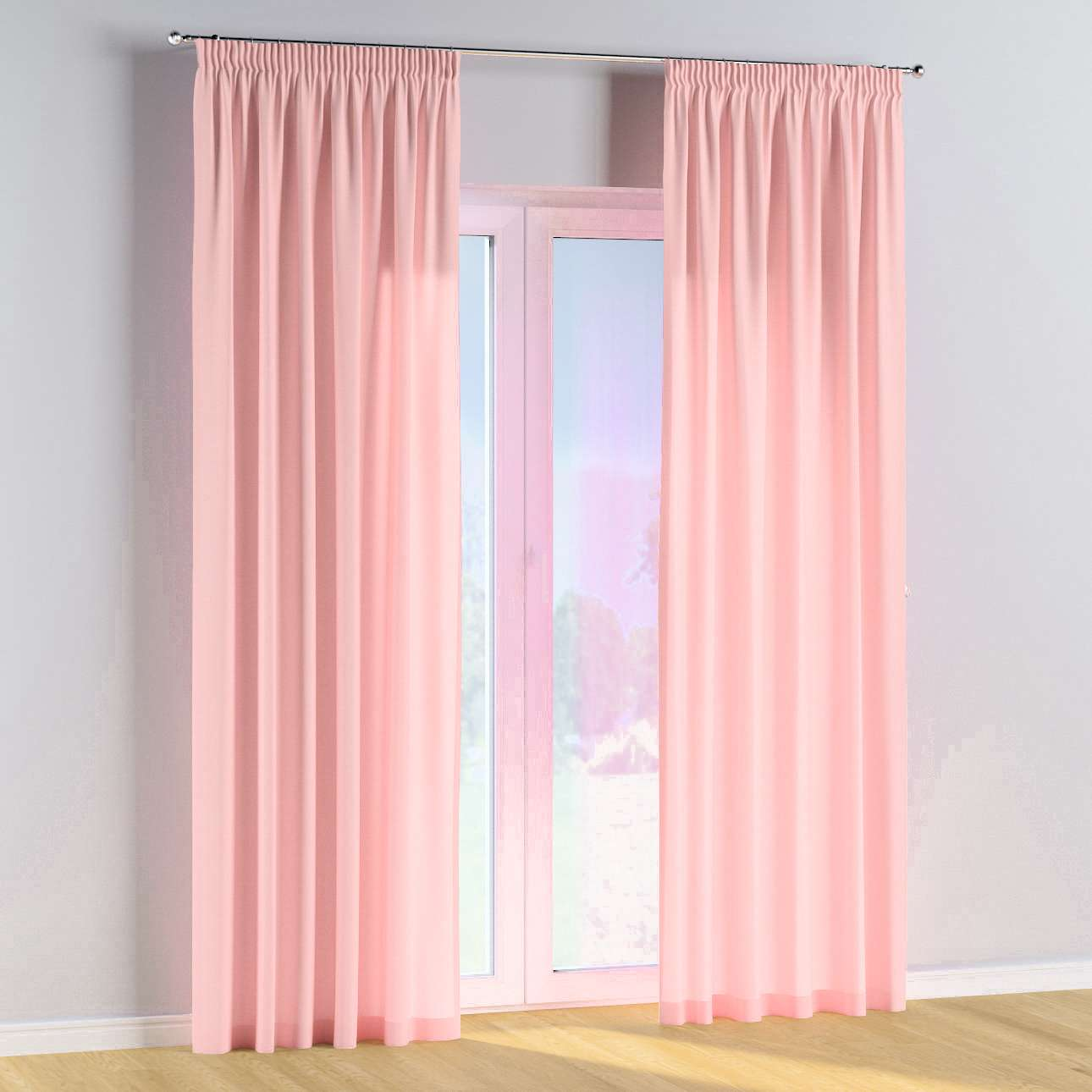 Pencil pleat curtains in collection Happiness, fabric: 133-39