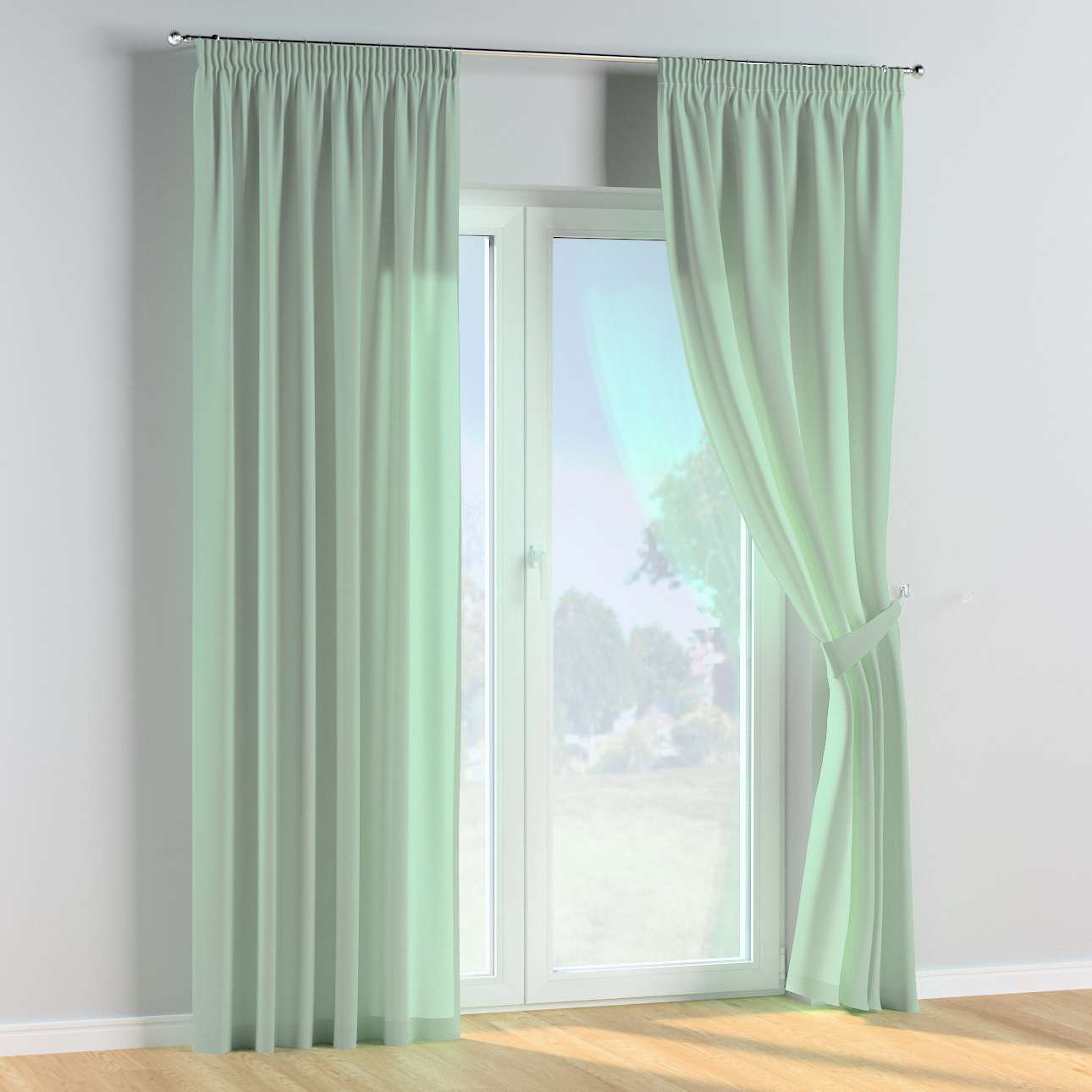 Pencil pleat curtains in collection Happiness, fabric: 133-61