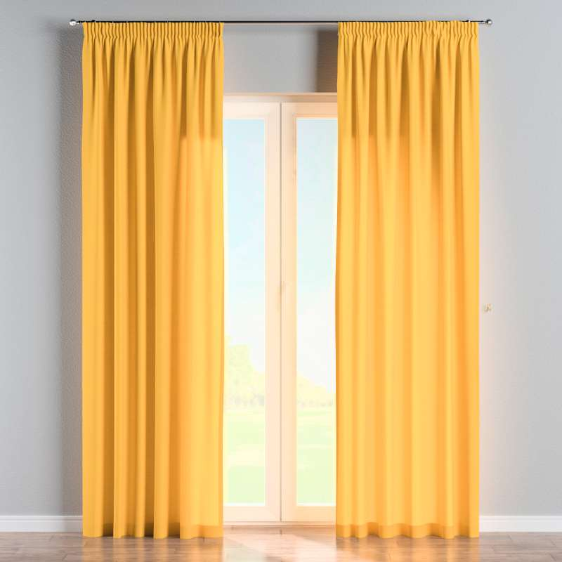 Pencil pleat curtain in collection Loneta , fabric: 133-40