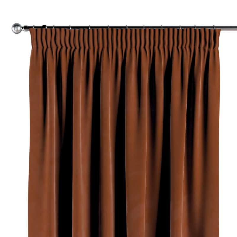 Vorhang mit Kräuselband von der Kollektion Velvet, Stoff: 704-33