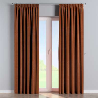 Pencil pleat curtain in collection Velvet, fabric: 704-33