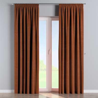 Vorhang mit Kräuselband 704-33 braun-karamell Kollektion Velvet