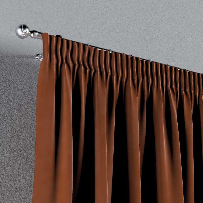 Gardin med rynkband 1 längd i kollektionen Velvet, Tyg: 704-33