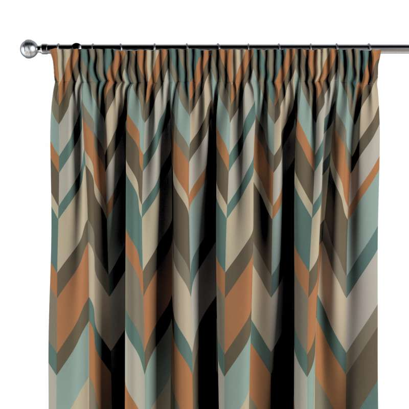 Pencil pleat curtain in collection Vintage 70's, fabric: 143-62