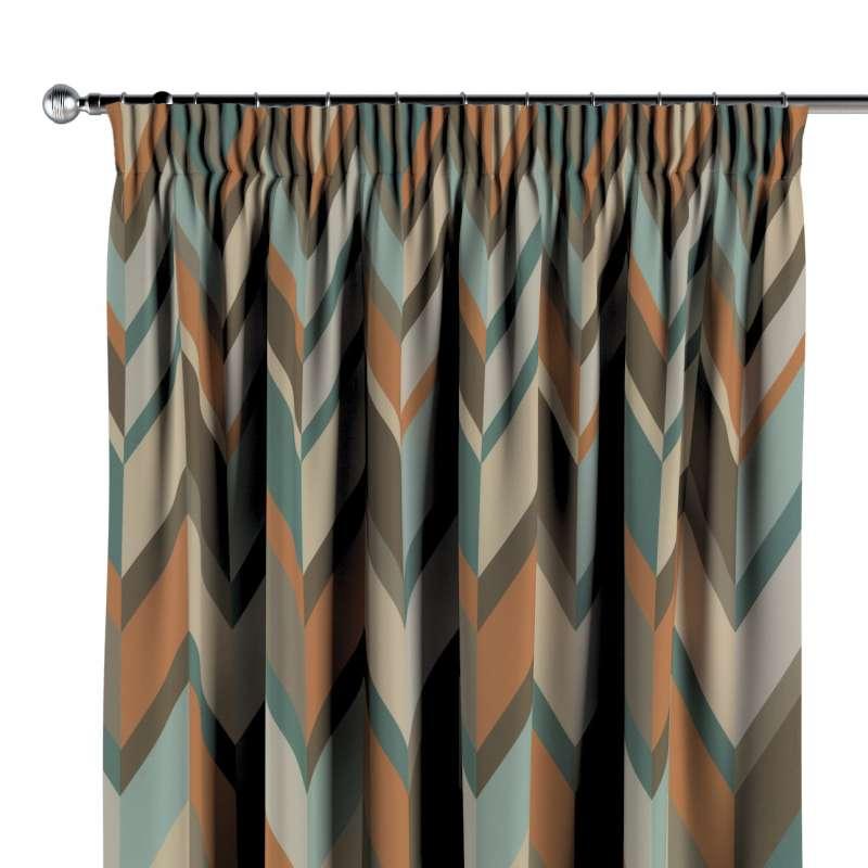 Vorhang mit Kräuselband von der Kollektion Vintage 70's, Stoff: 143-62