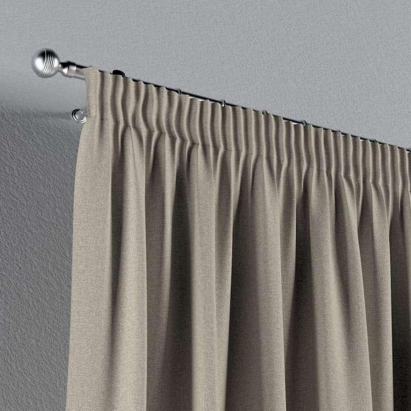 Gardin med rynkband 1 längd i kollektionen Amsterdam, Tyg: 704-52