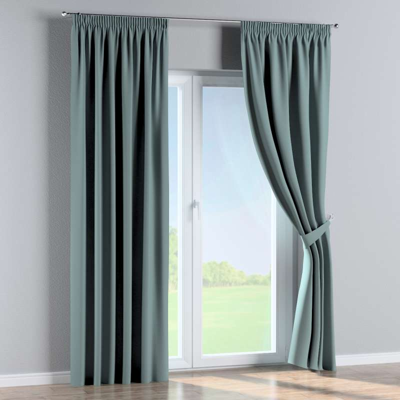 Pencil pleat curtain in collection Panama Cotton, fabric: 702-40
