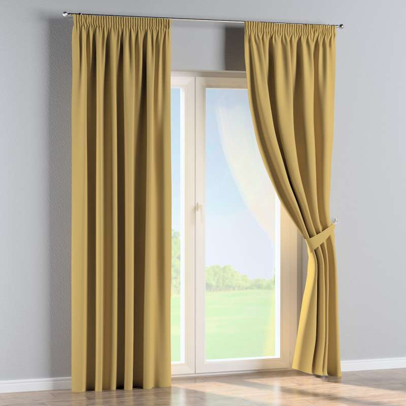 Pencil pleat curtain in collection Panama Cotton, fabric: 702-41