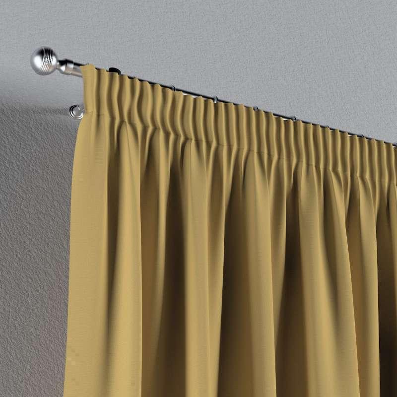 Gardin med rynkband 1 längd i kollektionen Panama Cotton, Tyg: 702-41