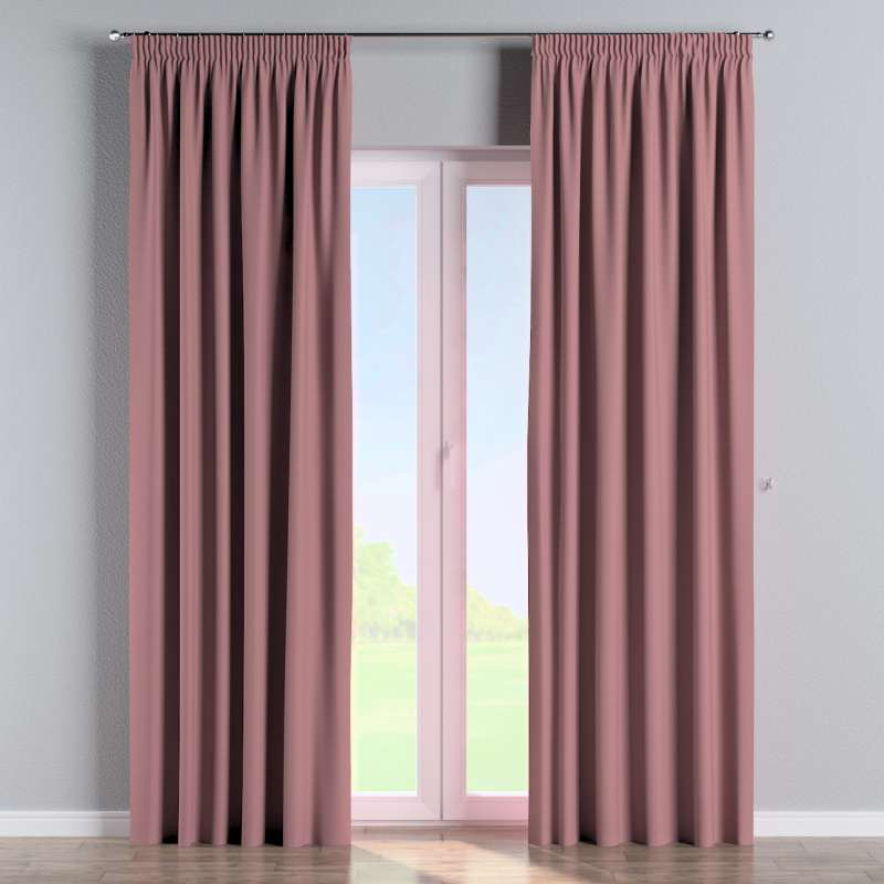 Pencil pleat curtain in collection Panama Cotton, fabric: 702-43
