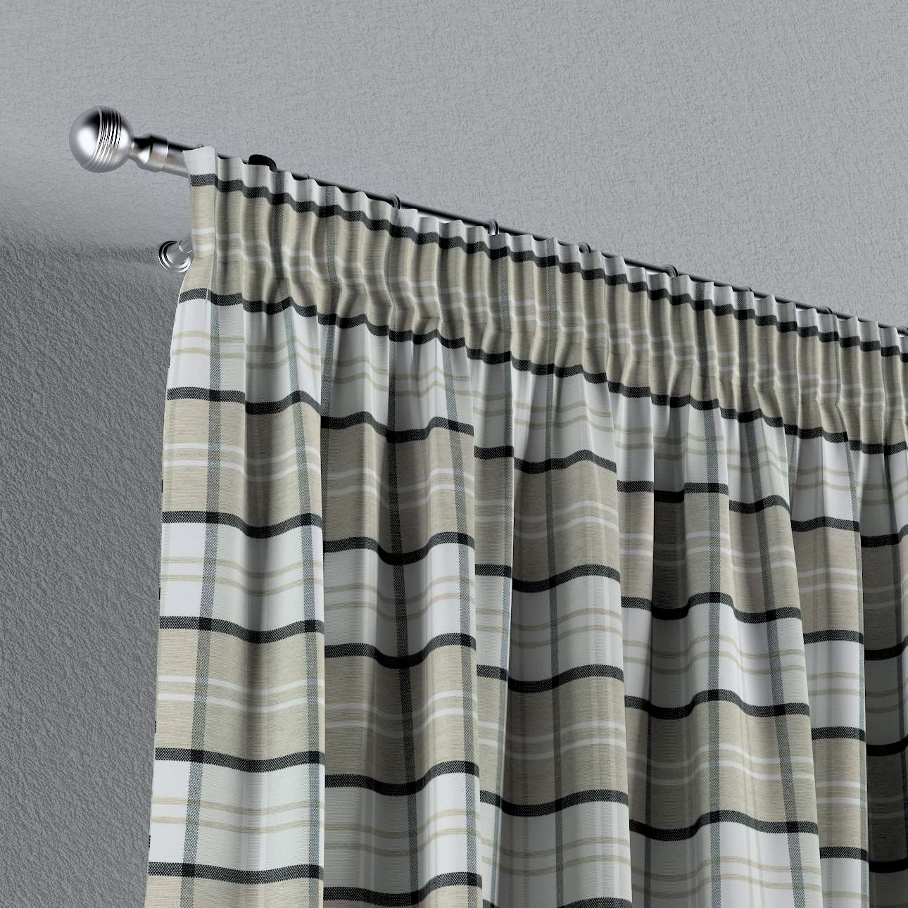 Záves na riasiacej páske V kolekcii Bristol, tkanina: 143-64