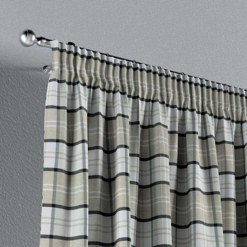 Gardin med rynkband 1 längd i kollektionen Bristol, Tyg: 143-64
