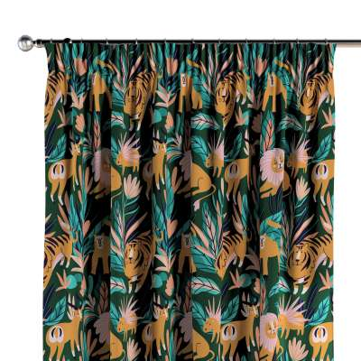 Pencil pleat curtains 500-42 zielony Collection Magic Collection