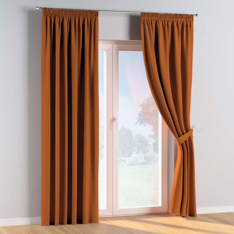 Pencil pleat curtains in collection Cotton Story, fabric: 702-42