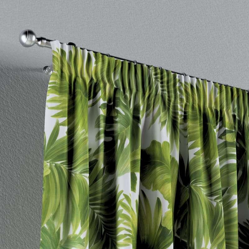 Vorhang mit Kräuselband von der Kollektion Tropical Island, Stoff: 143-63