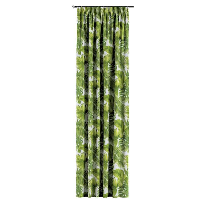 Pencil pleat curtain in collection Tropical Island, fabric: 143-63