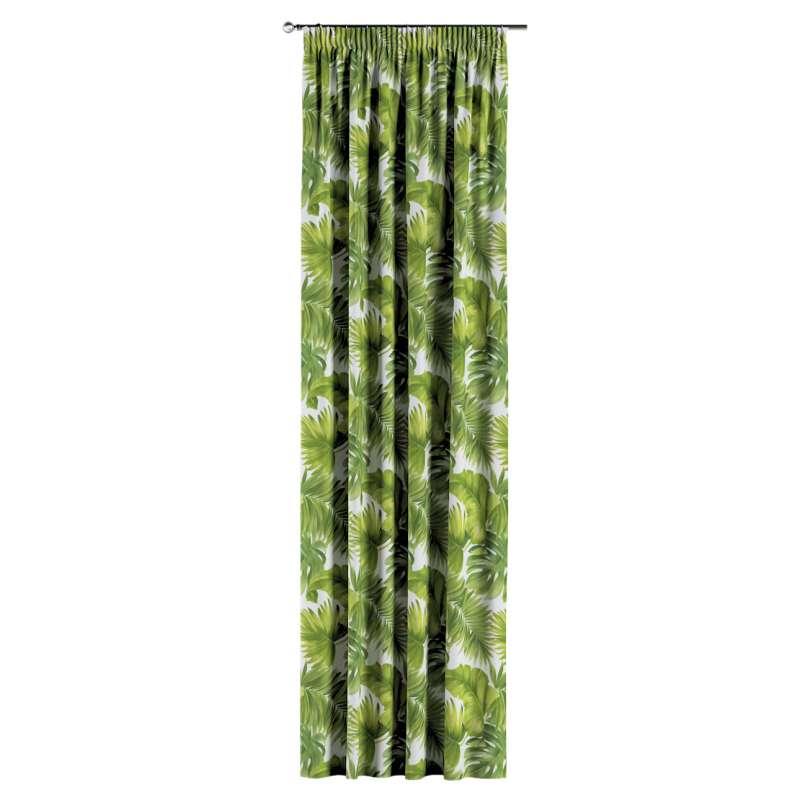 Záves na riasiacej páske V kolekcii Tropical Island, tkanina: 143-63