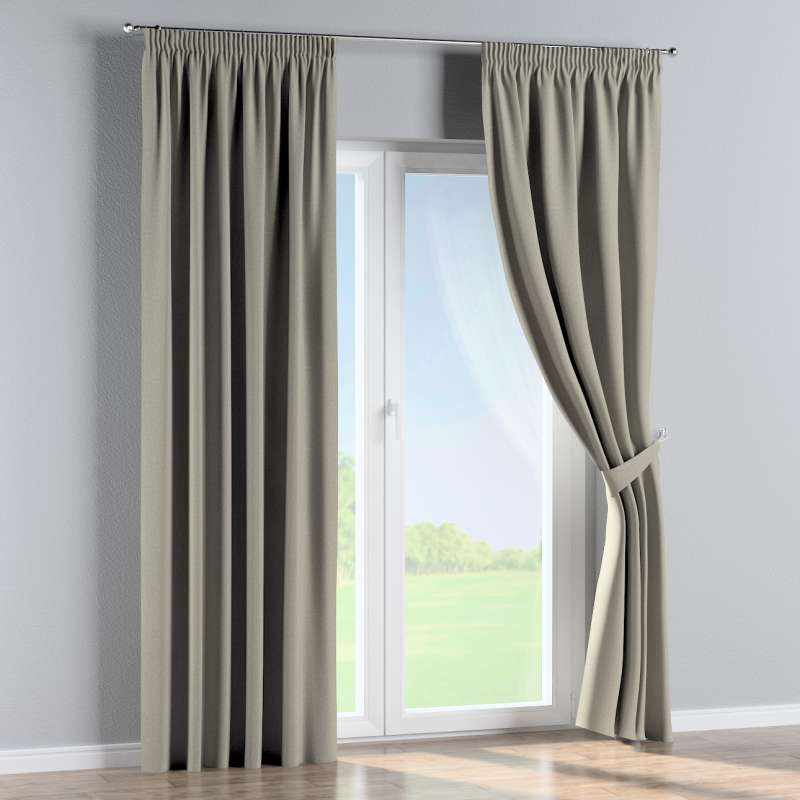 Pencil pleat curtain in collection City, fabric: 704-80