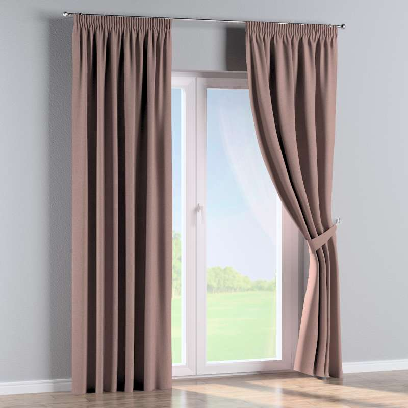 Pencil pleat curtain in collection City, fabric: 704-83