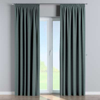 Pencil pleat curtain 704-85 gray blue chenille Collection City