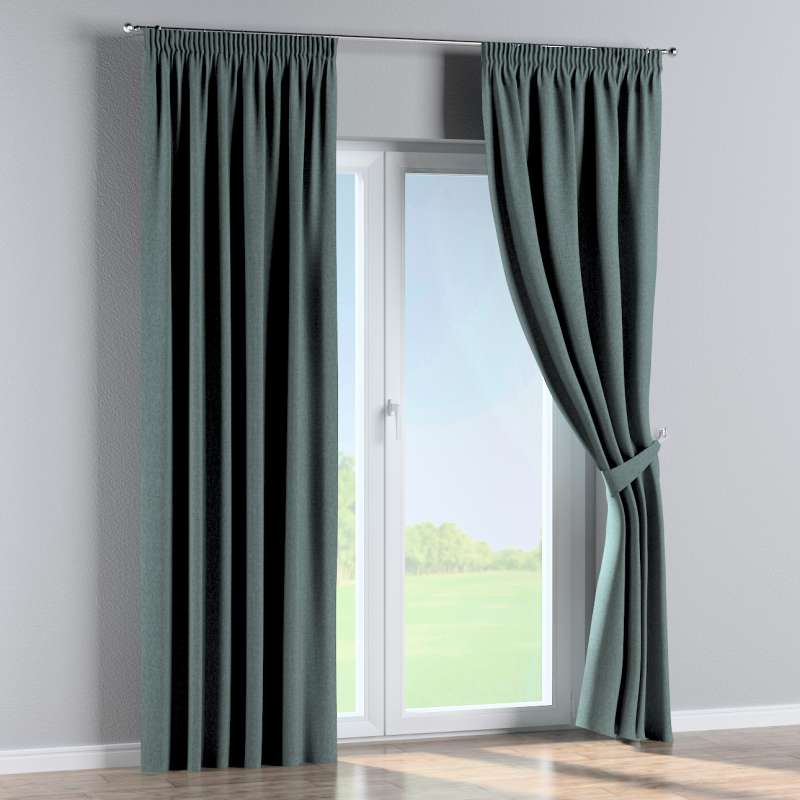 Pencil pleat curtain in collection City, fabric: 704-85